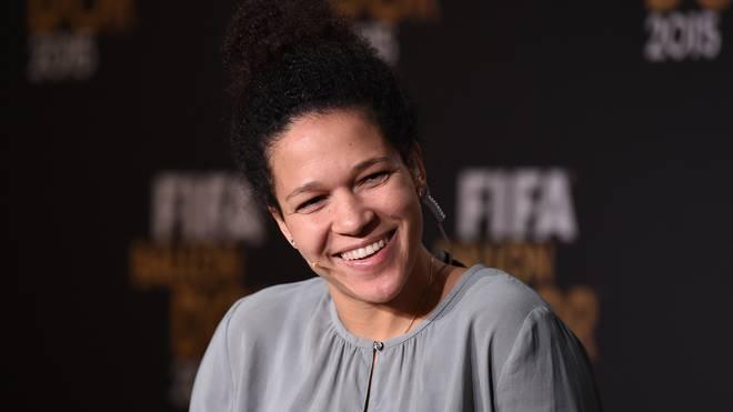 Celia Sasic bei der FIFA Ballon d'Or Gala 2015