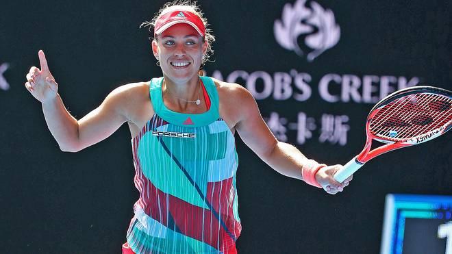 Angelique Kerber steht zum ersten Mal im Finale der Australian Open