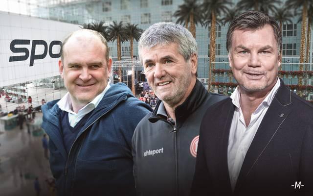 Jörg Schmadtke und Friedhelm Funkel sind zu Gast im CHECK24 Doppelpass