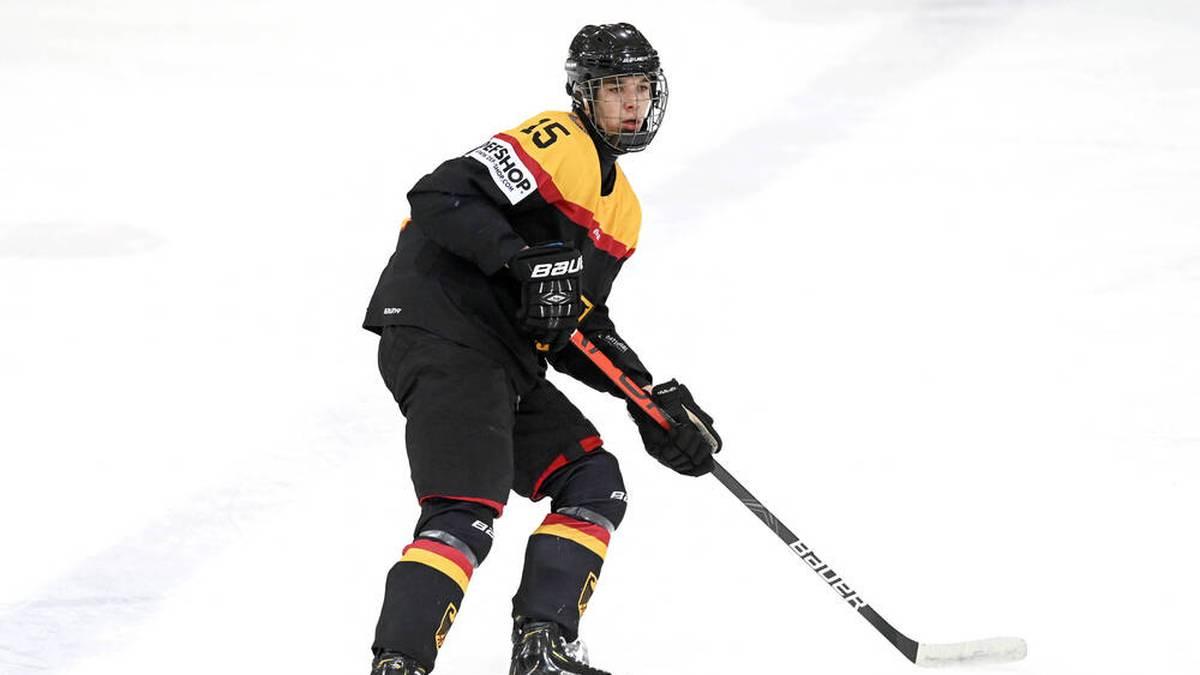 Luca Münzenberger wurde von den Edmonton Oilers gedraftet.