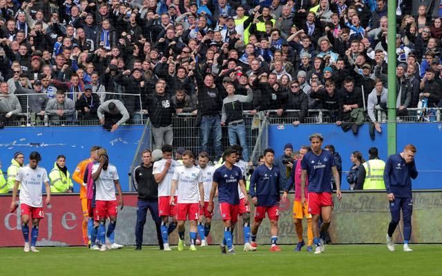 Die Fans pfiffen den HSV nach Spielende aus