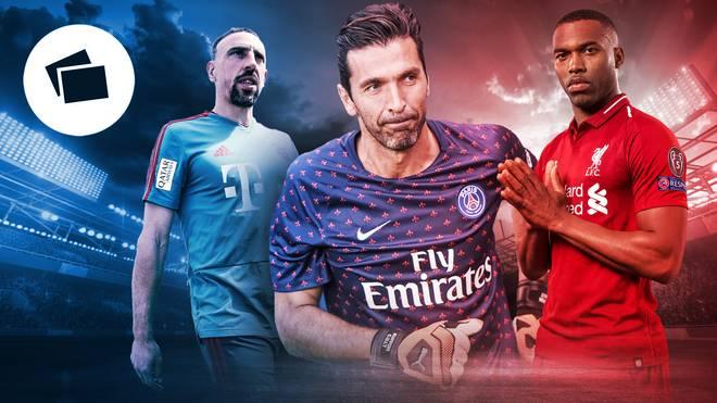Franck Ribéry, Gianluigi Buffon und Daniel Sturridge (v.l.) sind derzeit zum Nulltarif zu haben