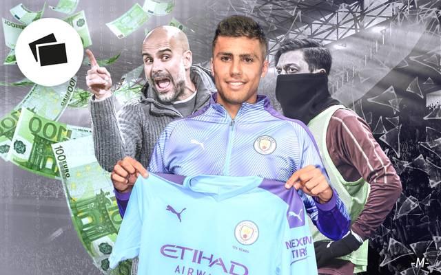 Rodrigo (M.) ist bisher der Königstransfer von Pep Guardiola (l.) und Manchester City