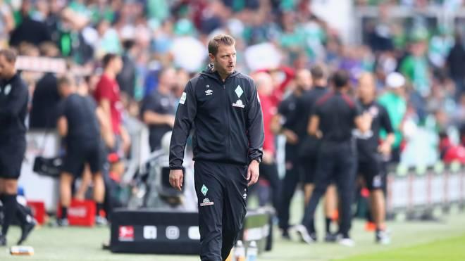 Bremens Trainer Florian Kohfeldt war nach dem Remis gegen Nürnberg angefressen
