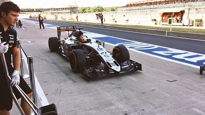 Das Auto von Nico Hülkenberg mit neuer Nase