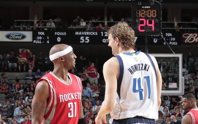 Jason Terry (l.) und Dirk Nowitzki wurden mit den Dallas Mavericks 2011 zusammen Meister