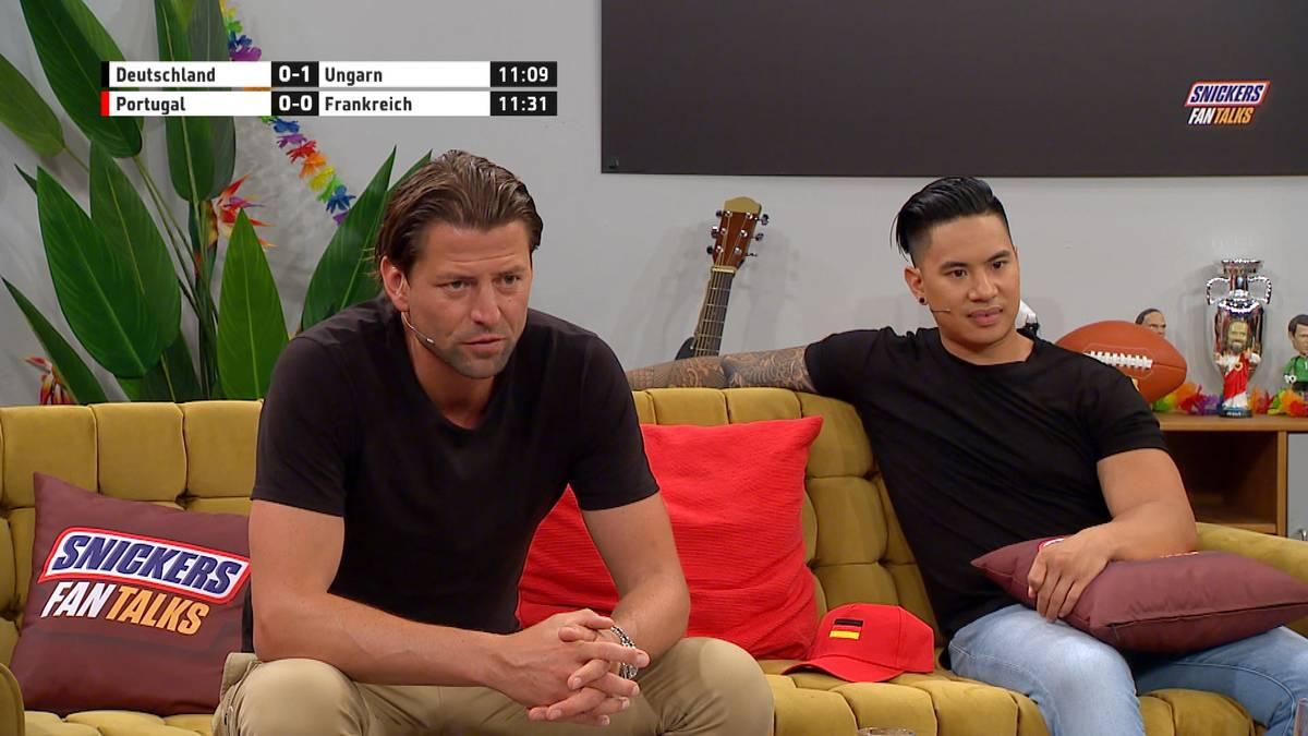 Früher Schock für die DFB-Elf beim Vorrundenfinale gegen Ungarn. Roman Weidenfeller kritisiert im SNICKERS Fan Talks die Einstellung der Spieler beim Gegentor.