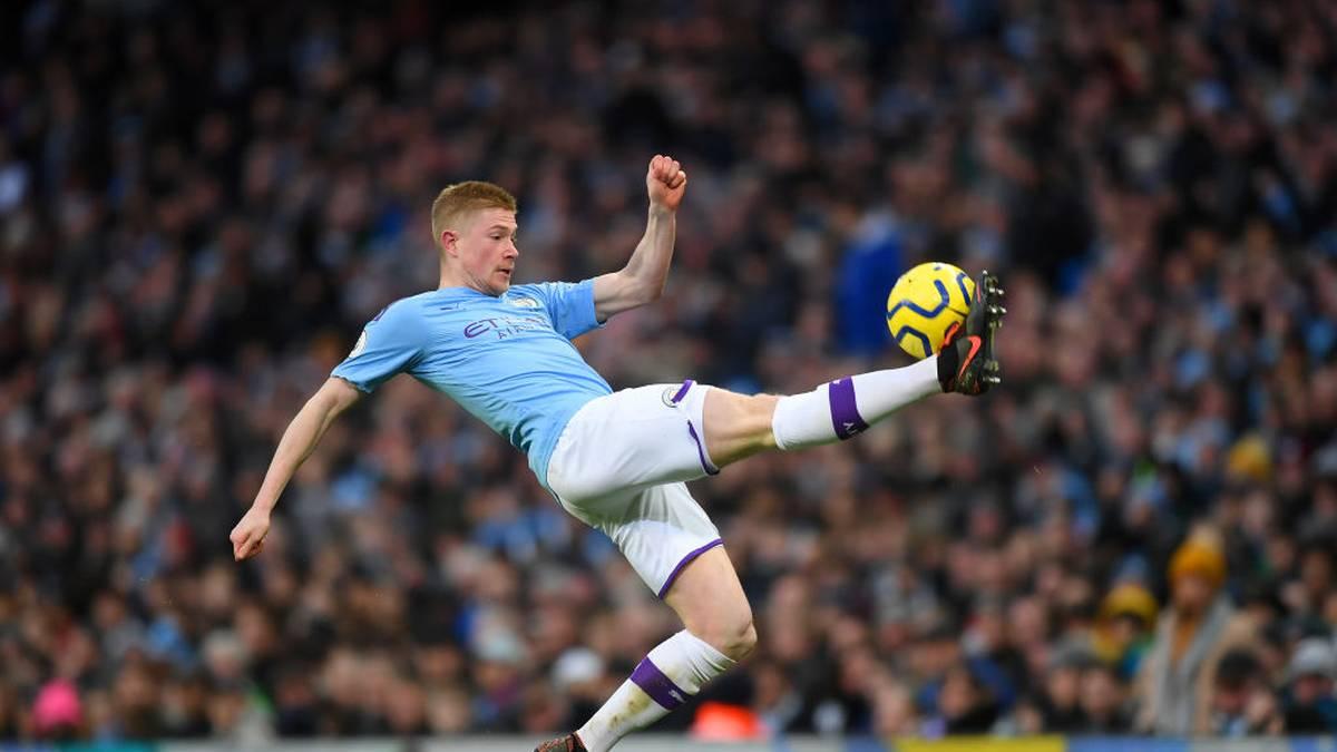 Kevin De Bruyne belegt mit Manchester City aktuell Rang zwei in der Premier League