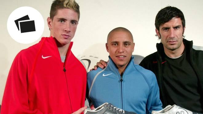 Fernando Torres (l.) legte eine ähnlich große Karriere wie Roberto Carlos und Luis Figo hin