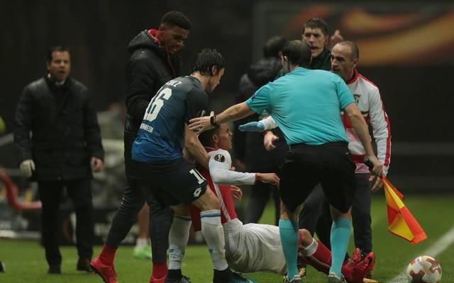 Hoffenheim-Profi Nico Schulz löste in der Nachspielzeit in Braga eine Rudelbildung aus
