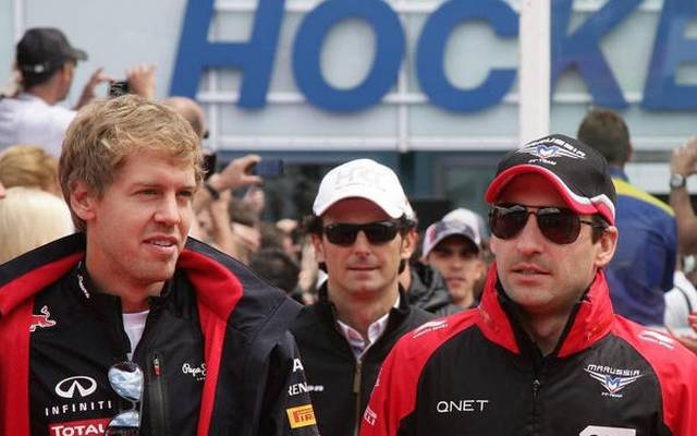 Kumpels aus dem Odenwald: Sebastian Vettel und Timo Glock