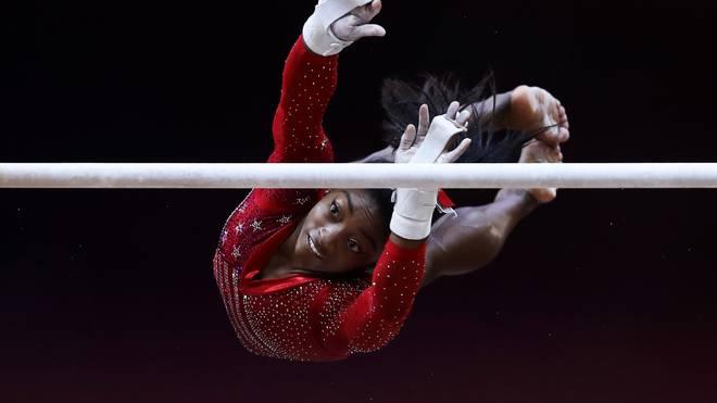Simone Biles durfte sich über ihre insgesamt zwölfte Goldmedaille bei Weltmeisterschaften freuen