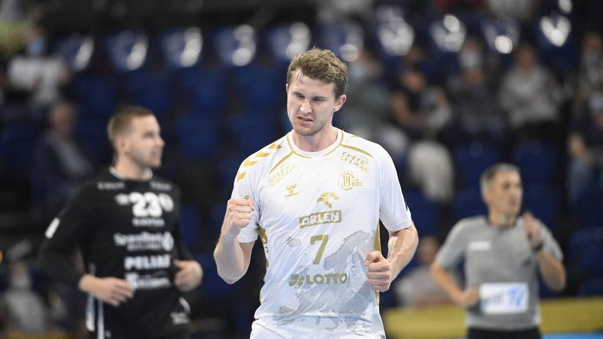 Der THW Kiel siegte mit Magnus Landin Jacobsen am Ende klar
