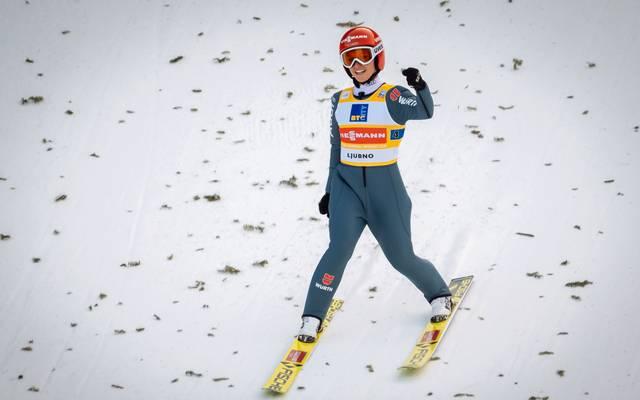 SKI-JUMPING-WORLD-WOMEN Nach dem Gold im Team-Wettbewerb war Katharina Althaus auch im Einzel nicht zu schlagen. Der Lohn ist ihre zweite Goldmedaille bei dieser WM