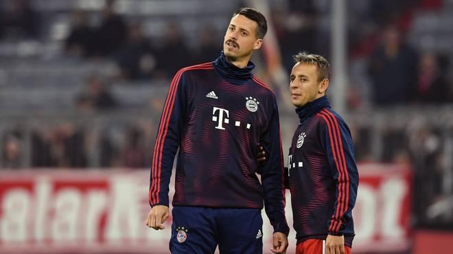 Sandro Wagner (l.) wechselte im Januar 2018 von der TSG Hoffenheim zum FC Bayern