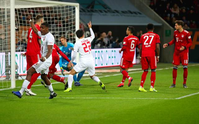 Leon Goretzka erzielte per Eigentor das 0:1 aus Sicht des FC Bayern gegen den FC Augsburg