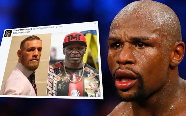 Floyd Mayweather (r.) und Conor McGregor boxen gegeneinander