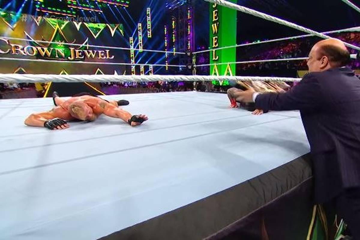 Bei der großen WWE-Saudi-Show Crown Jewel spielt Paul Heyman im Hauptkampf zwischen Roman Reigns und Brock Lesnar wie erwartet eine Schlüsselrolle.