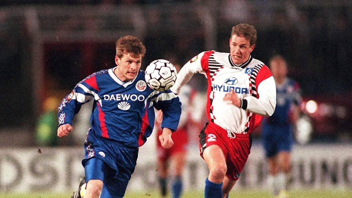 Stéphane Henchoz (r.) spielte von 1995 bis 1997 für den Hamburger SV