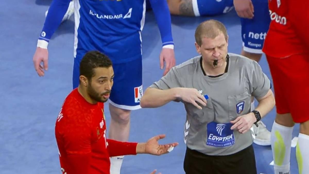Marokko kassierte bei der Handball-WM gegen Island drei Rote Karten