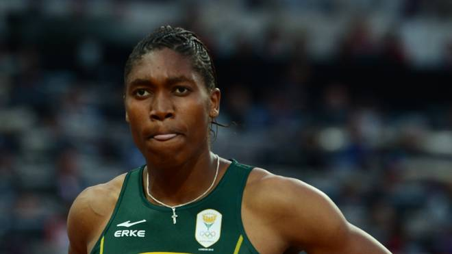 South Africa's silver medalist Caster Se