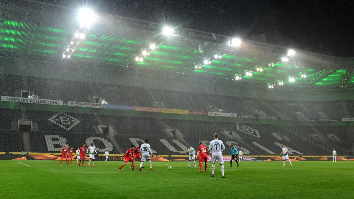 Das bislang einzige Geisterspiel der Liga fand zwischen Borussia Mönchengladbach und dem 1. FC Köln statt