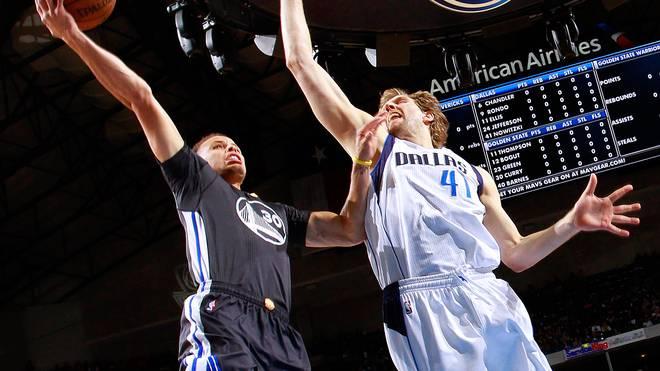 Stephen Curry gegen Dirk Nowitzki