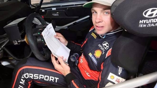 Hayden Paddon war auf der Shakedown-Prüfung in Salou der Schnellste