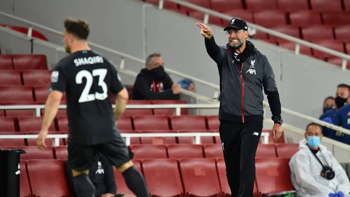 Jürgen Klopp war nicht zufrieden mit der Leistung seines Teams gegen Arsenal