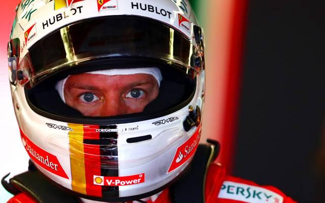 Angespannt: Sebastian Vettel