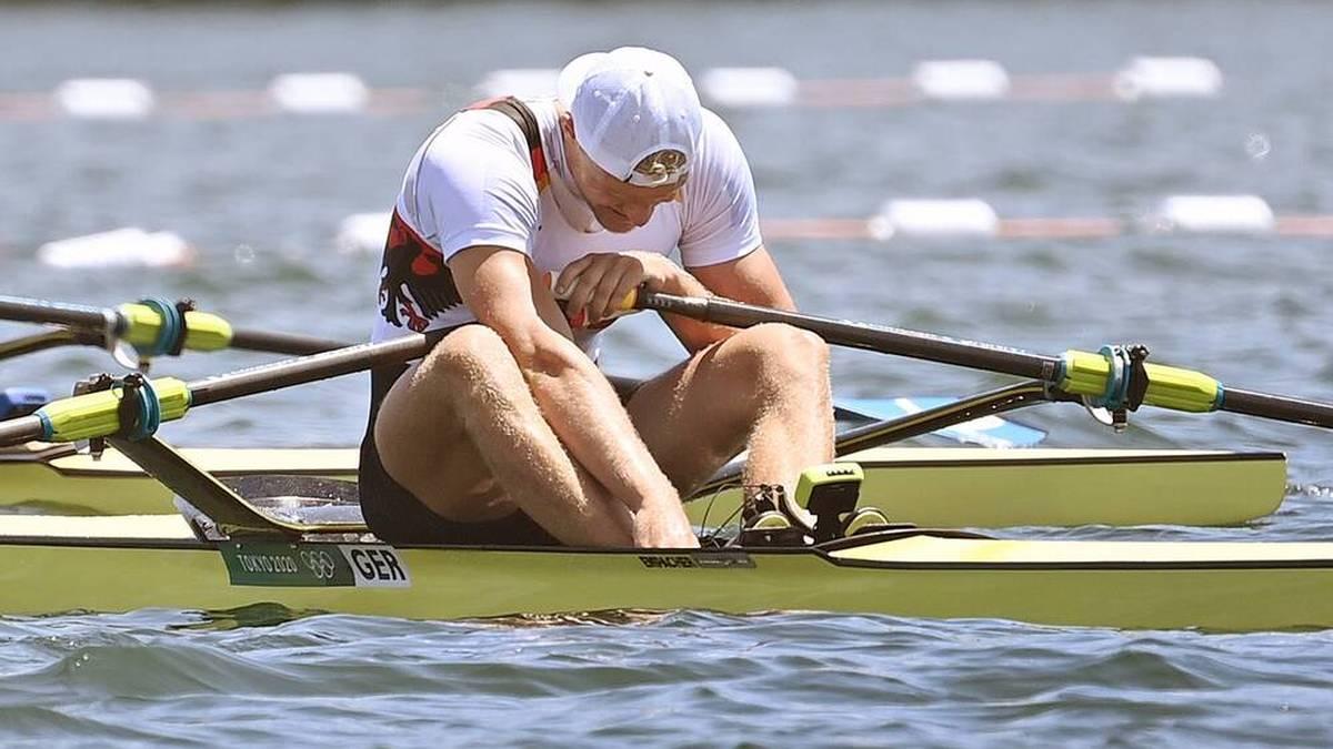 Oliver Zeidler ist nach dem Zieleinlauf im Halbfinale frustriert