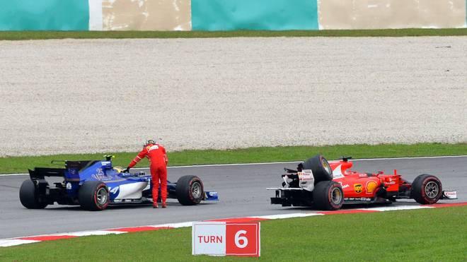 Nach dem Rennen in Malaysia kollidierten Sebastian Vettel und Lance Stroll