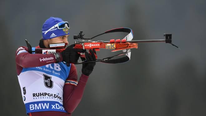 Anton Schipulin gewann bei Olympia 2014 in Sotschi Gold mit der Staffel
