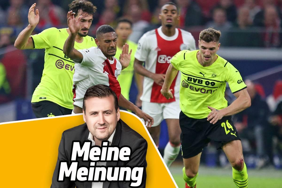Borussia Dortmund geht in der Champions League bei Ajax Amsterdam mit 0:4 unter. Der BVB muss sich jetzt schleunigst hinterfragen, meint SPORT1-Chefredakteur Pit Gottschalk.