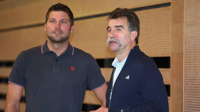Daniel Stephan und Heiner Brand