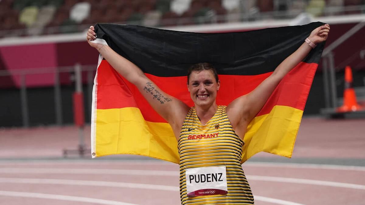 Kristin Pudenz gewann sensationell Silber im Diskuswerfen