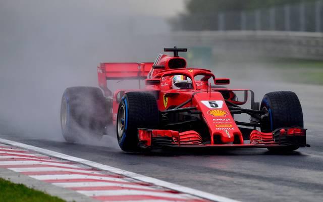 Sebastian Vettel landete beim verregneten Qualifying zum Ungarn-GP auf Rang vier