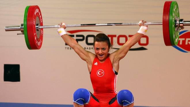 Sibel Ozkan of Turkey competes in the wo