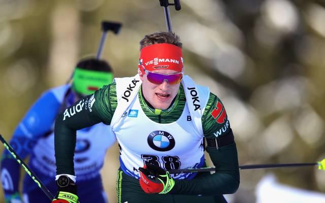 Benedikt Doll landete mit der Staffel in Ruhpolding auf Platz zwei