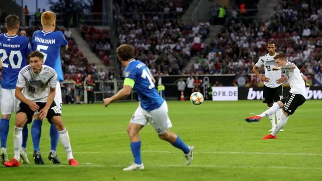 Marco Reus erzielte gegen Estland einen Treffer mit Seltenheitswert