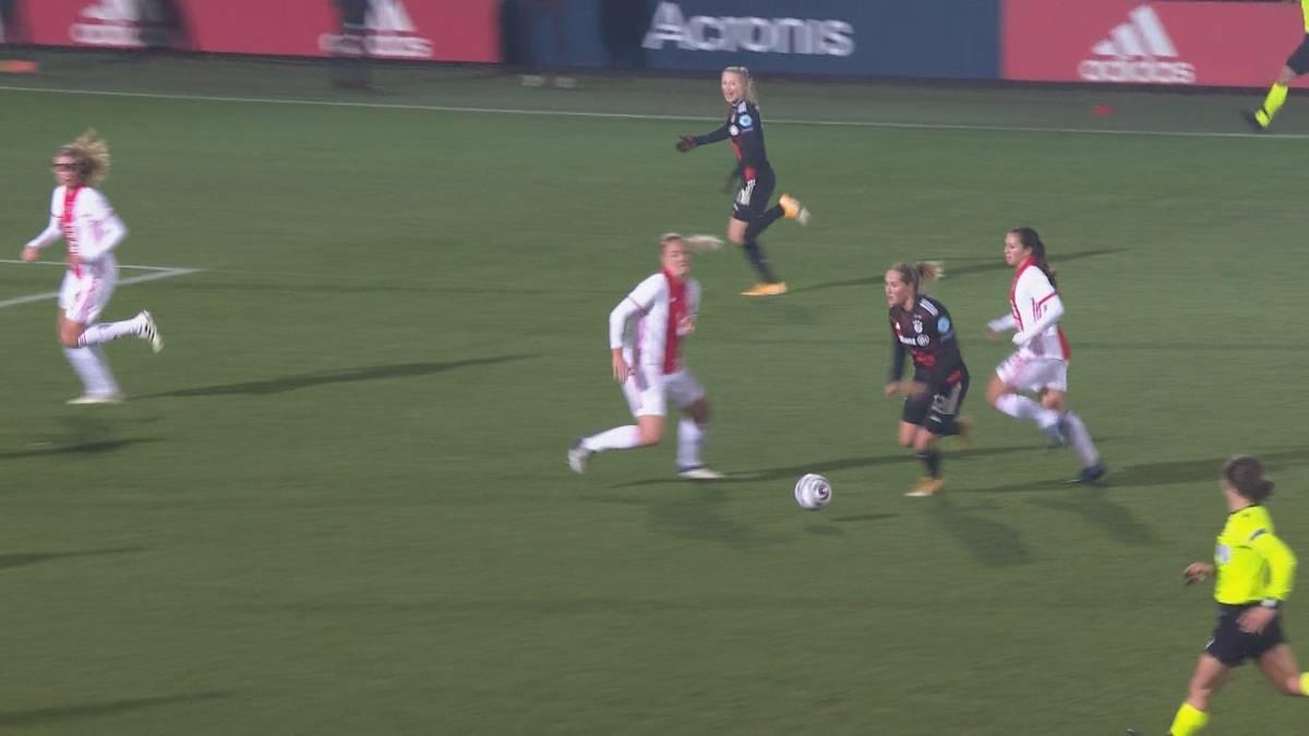 Die Frauen-Mannschaft des FC Bayern setzt sich zu Beginn der Champions League bei Ajax Amsterdam durch. Ein Traumsolo und Simone Laudehr sorgen für die Entscheidung.