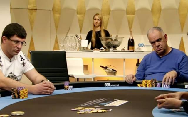 Auch Leon Tsoukernik (l.) und Renato sitzen in Folge 15 der German High Roller am Cashgame-Tisch