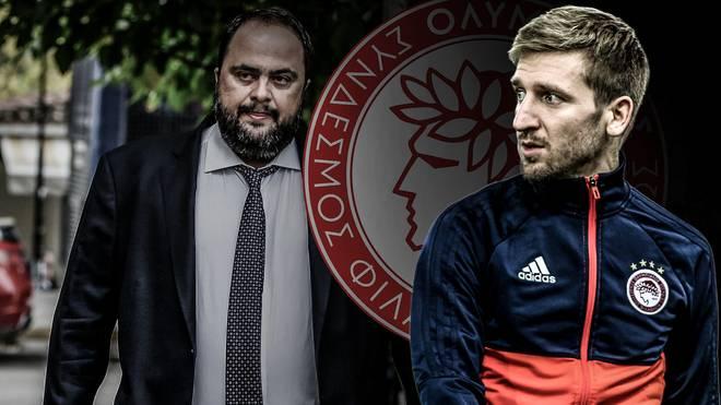 Marko Marin (r.) hat bei Olympiakos um Klubboss Marinakis (l.) aktuell noch einen Vertrag bis 2019