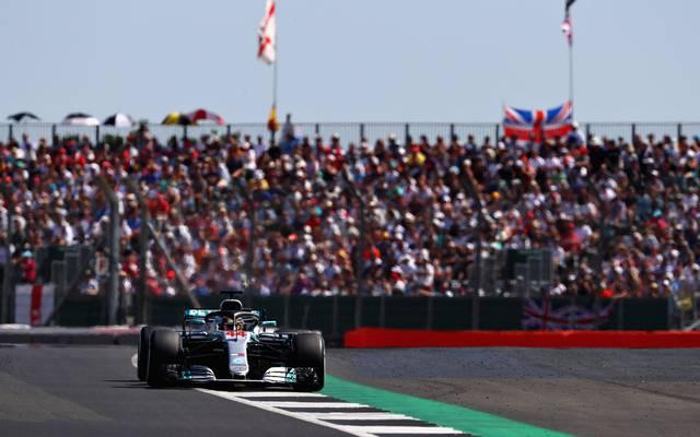 Formel 1 kommt bis 2024 nach Silverstone, Lewis Hamilton beim Großen Preis von Großbritannien in Silverstone