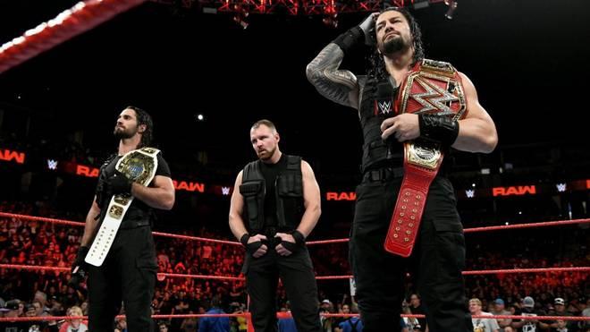 Die WWE-Rivalen von Seth Rollins, Dean Ambrose und Roman Reigns (v.l.) versuchen es mit Intrigen