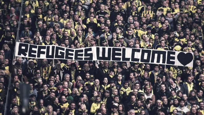 Die Bundesliga setzt auch optisch Zeichen zur Unterstützung von Flüchtlingen