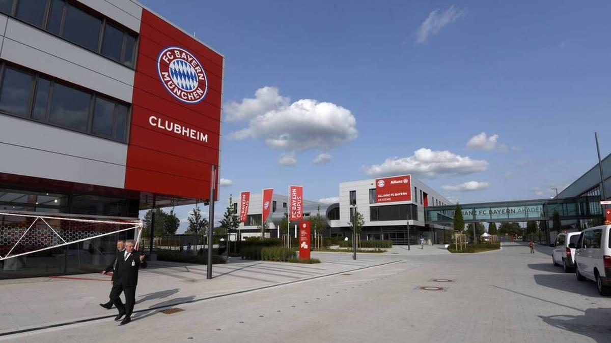 Der FC Bayern Campus in der nähe der Allianz Arena in München