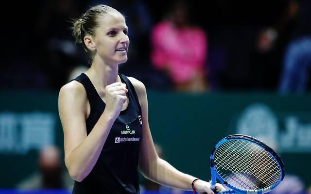 WTA Finals: Pliskova im Halbfinale - Wozniacki und Svitolina im Einsatz, Karolina Pliskova gewinnt bei den WTA Finals in Singapur gegen Petra Kvitova