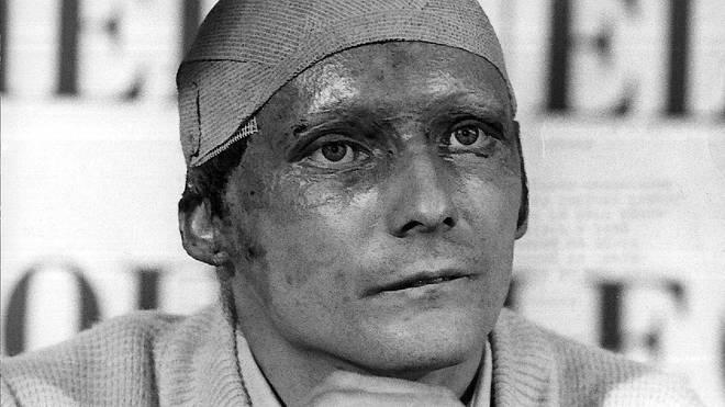 Niki Lauda Pressekonferenz 1976