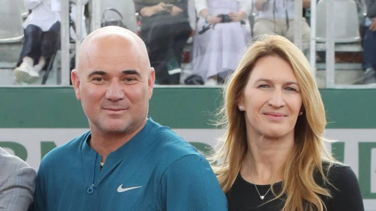 Andre Agassi und seine Frau Steffi Graf 2018